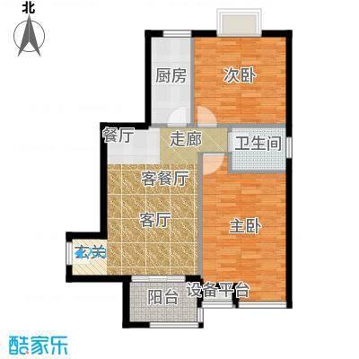 江林新城96.06㎡三期2号楼B4面积9606m户型