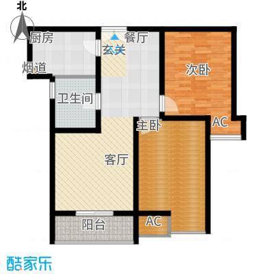 福邸铭门88.86㎡2号楼B面积8886m户型