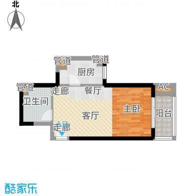 大华阳光曼哈顿51.54㎡面积5154m户型