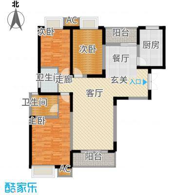 福邸铭门133.49㎡8、9号楼G面积13349m户型