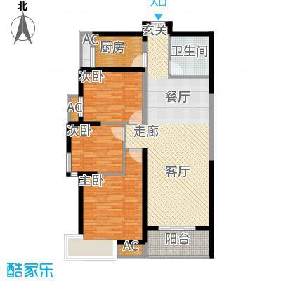 福邸铭门111.65㎡7号楼C面积11165m户型