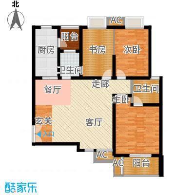 福邸铭门127.22㎡1号楼D面积12722m户型