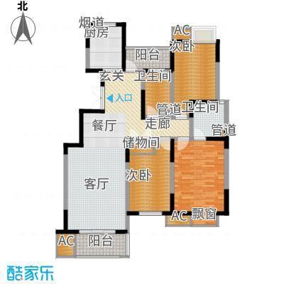 福邸铭门130.08㎡3号楼A面积13008m户型