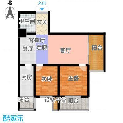大明宫寓89.00㎡室标准层户面积8900m户型