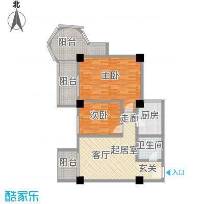 时代明丰苑94.18㎡面积9418m户型