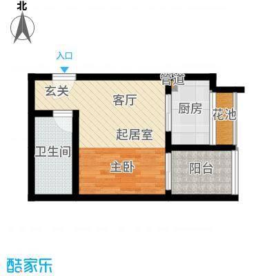 丹枫国际45.00㎡面积4500m户型