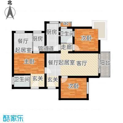 丹枫国际123.00㎡面积12300m户型