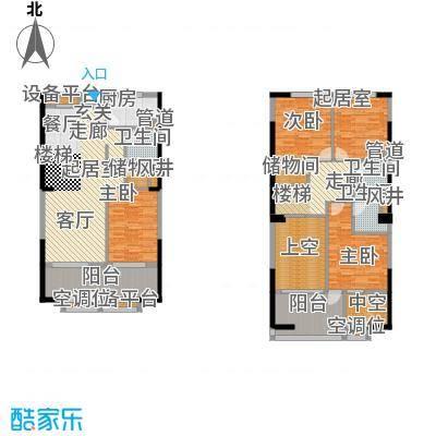 紫薇尚层92.14㎡面积9214m户型
