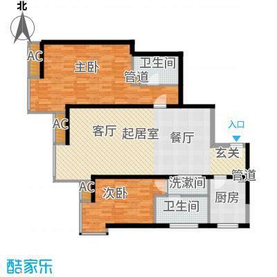 宏城国际公寓113.00㎡面积11300m户型