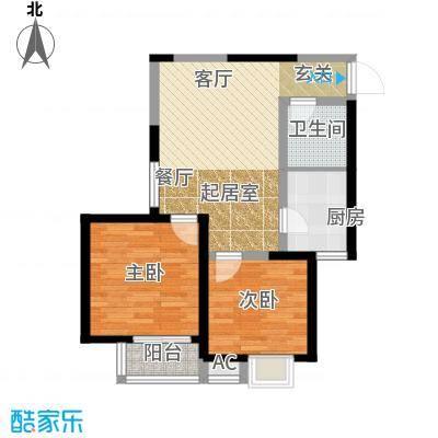 中天雅苑81.72㎡B2面积8172m户型