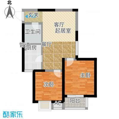 中天雅苑81.72㎡B2-1面积8172m户型