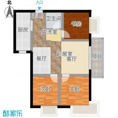 中天国际公寓88.00㎡面积8800m户型