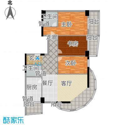 建苑家园166.43㎡面积16643m户型