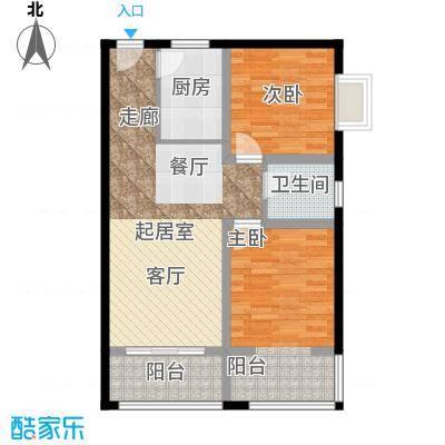 中天国际公寓86.00㎡面积8600m户型