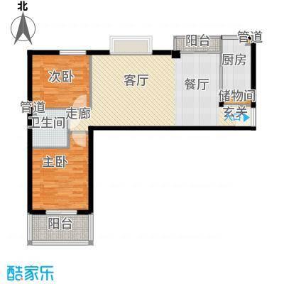 瑞鑫摩天城89.44㎡2号3号楼E面积8944m户型