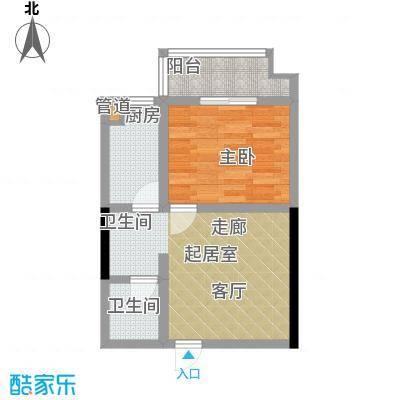海利华宫35.00㎡面积3500m户型
