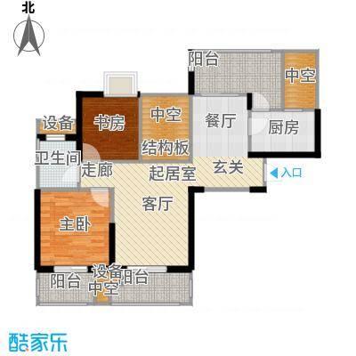 世茂首府89.00㎡1、11号楼4-24层面积8900m户型