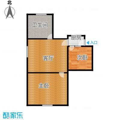 横河新村44.00㎡面积4400m户型