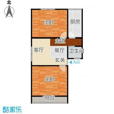 德胜新村南60.00㎡2面积6000m户型
