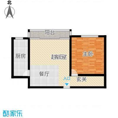 三里家园77.00㎡面积7700m户型
