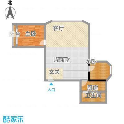 三里家园80.00㎡面积8000m户型