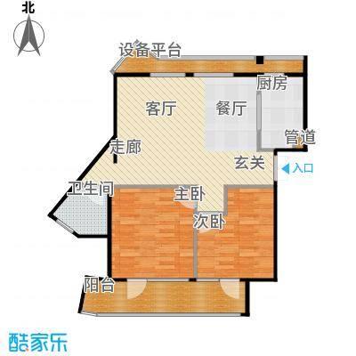 玉兰公寓89.00㎡2#楼3-16层G型面积8900m户型