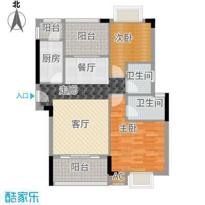 金领公寓88.00㎡A22面积8800m户型