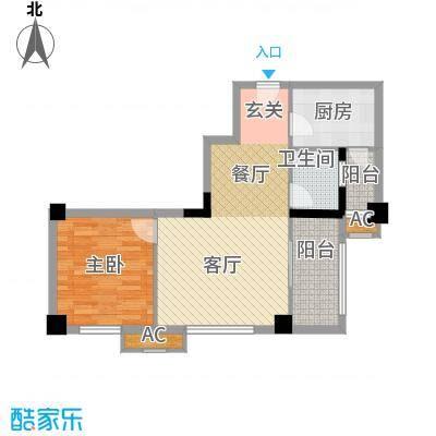 金领公寓75.01㎡K21面积7501m户型