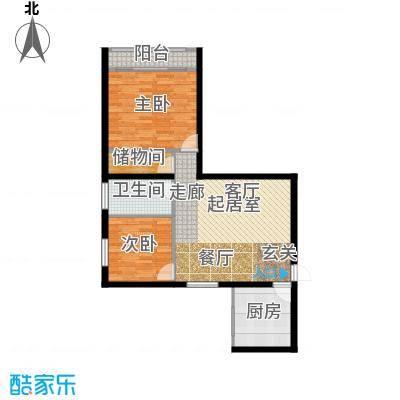 云龙公寓87.00㎡面积8700m户型