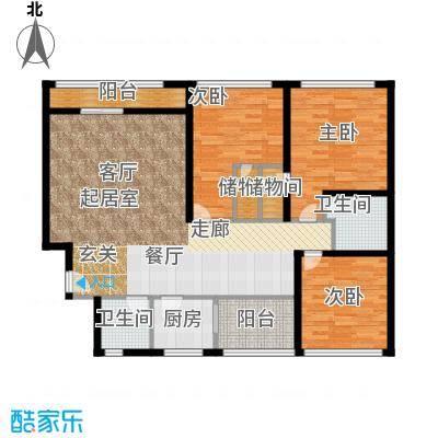 云龙公寓122.00㎡面积12200m户型