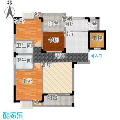 金领公寓109.00㎡B1面积10900m户型