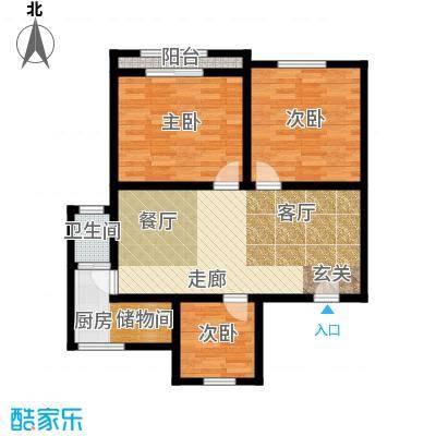 南星公寓82.00㎡面积8200m户型