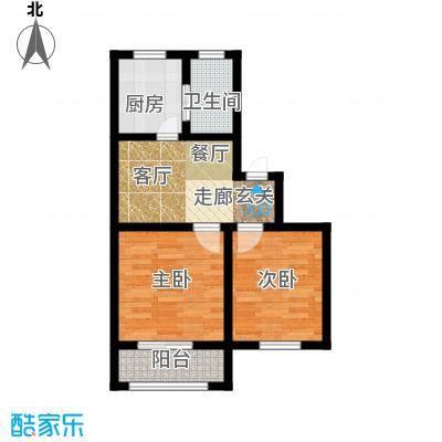 南星公寓53.00㎡面积5300m户型