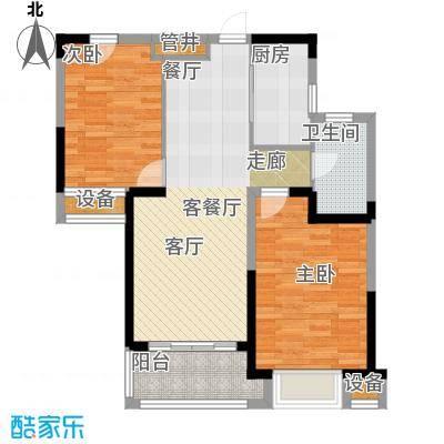 融科城A3户型2室1厅1卫1厨