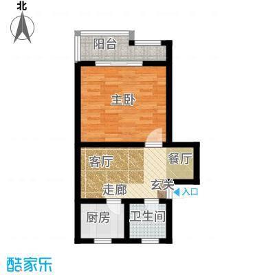南星公寓44.00㎡面积4400m户型