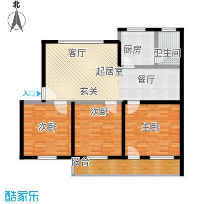 广宇银杉雅园108.75㎡E2面积10875m户型