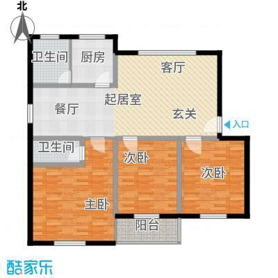 广宇银杉雅园114.80㎡D2面积11480m户型