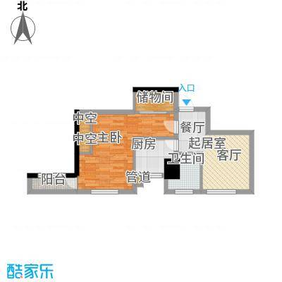新时代广场64.06㎡E2面积6406m户型