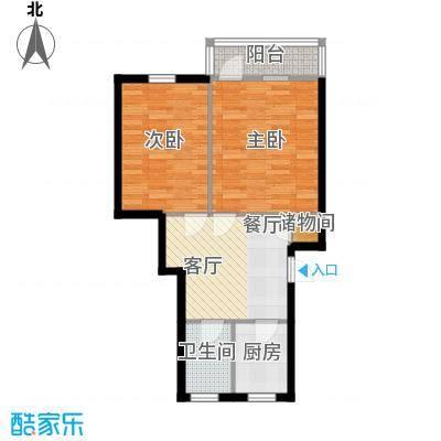 采荷青荷苑58.00㎡2面积5800m户型
