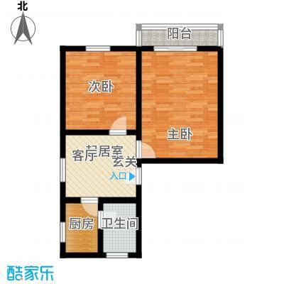 采荷绿萍58.00㎡面积5800m户型