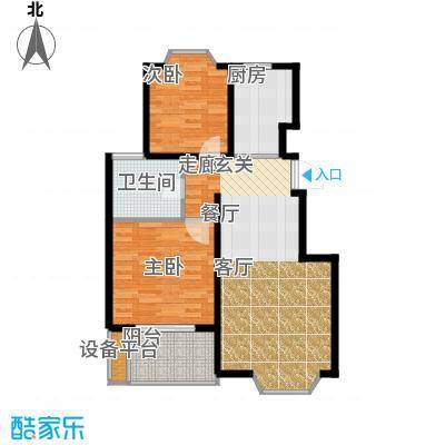 卓峰家园79.00㎡面积7900m户型