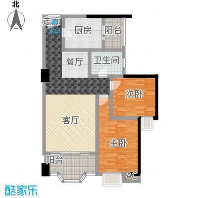 湘江世纪城濠江苑99.00㎡面积9900m户型