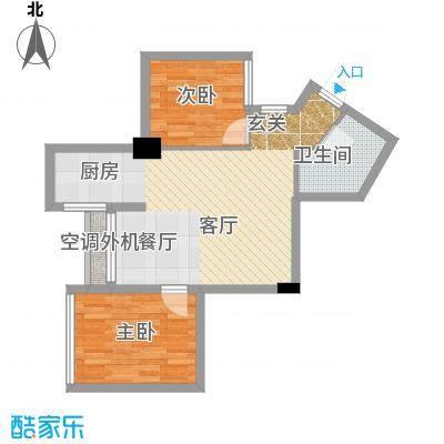 东方摩卡67.67㎡8-31层052面积6767m户型