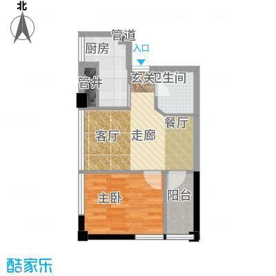 东方摩卡53.88㎡3-7层07面积5388m户型