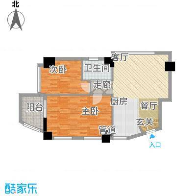 东方摩卡81.42㎡8-31层012面积8142m户型