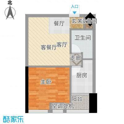 东方摩卡58.93㎡3-7层08面积5893m户型