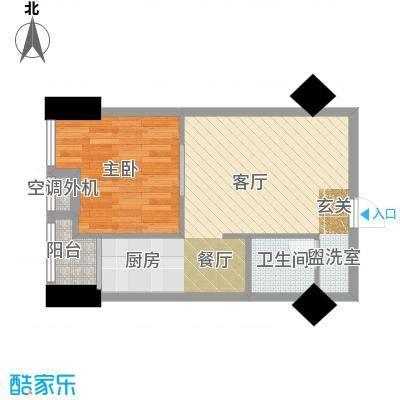 东方摩卡60.54㎡3-7层09面积6054m户型
