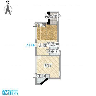 东方摩卡40.56㎡3-7层05面积4056m户型