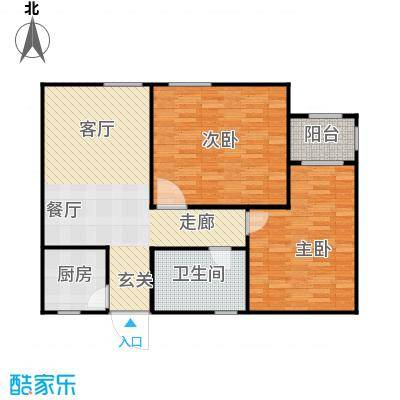 紫薇公寓88.00㎡面积8800m户型