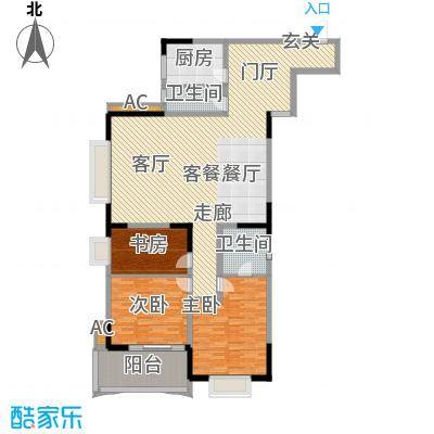 天泽大厦154.54㎡D型1面积15454m户型